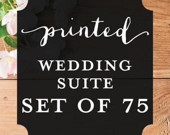 Printable Wisdom - Printed Wedding Invitation Suite - Set of 75