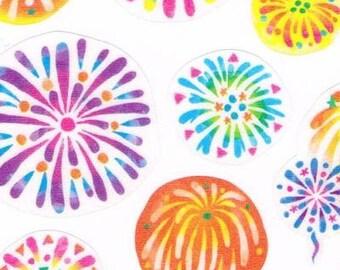 Japan Mind Wave summer selection Transparent  FIREWORKS sticker sheet