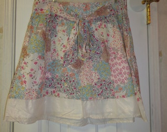 Hipster Cotton Calico Skirt
