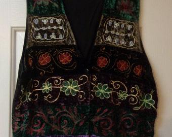 Vintage Embellished Hippie Couture Vest