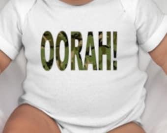 Oorah - Marine baby tee - Gift for marine dad - marine baby -marine mom -marine mommy -marine family - marine daddy -  marine gift - usmc