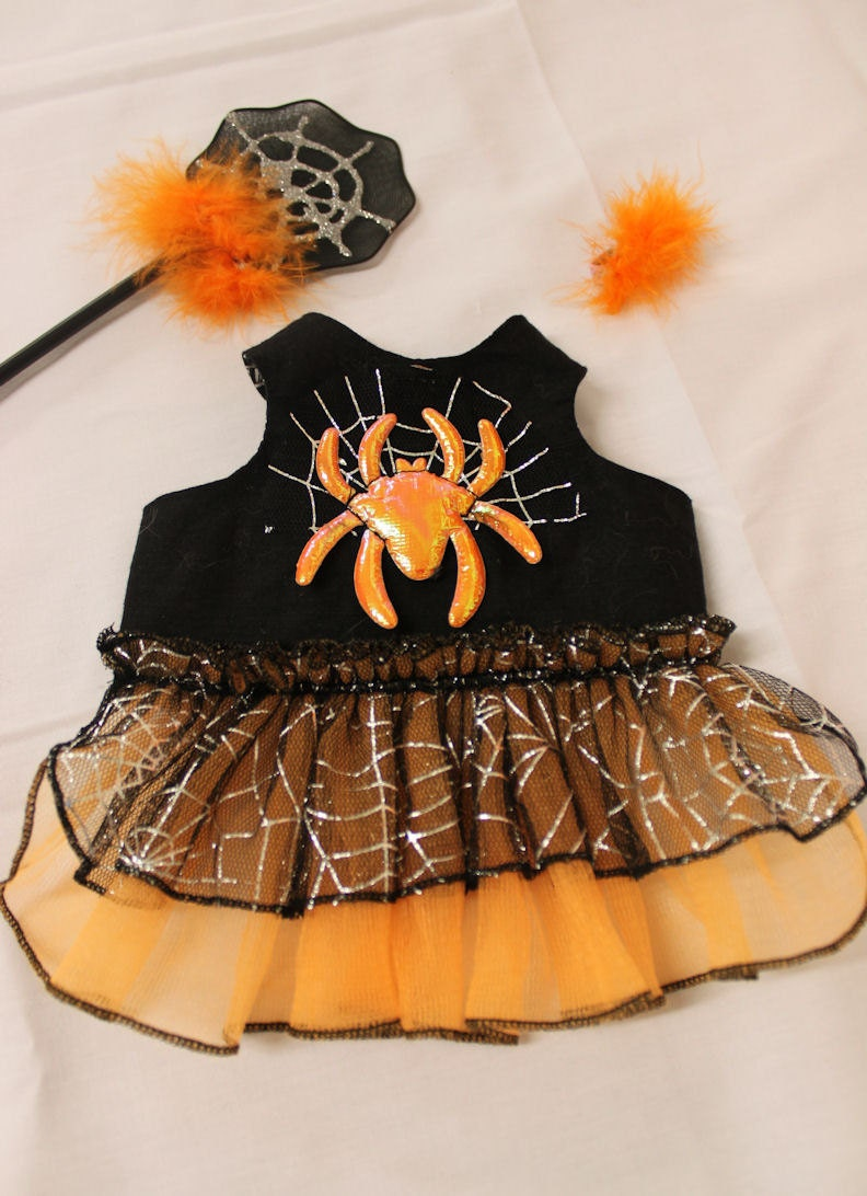 Spider Outfit Dress For Your Bunny Made To Order Halloween