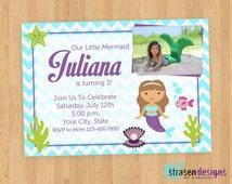 Mermaid Birthday Invitation Printable DIY