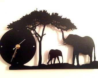 "Elephant Clock 8"" x 12"""