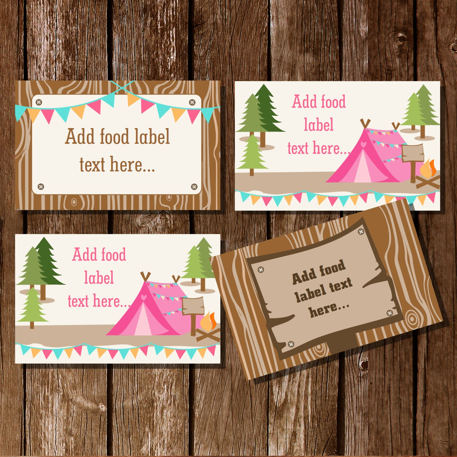 This is an image of Rare Food Label Tent Cards Template