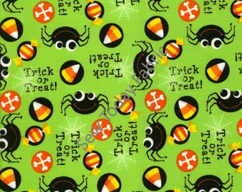 Spiders Lime - Timeless Treasures KIDZ-C1343-LIME (sold by the 1/2 yard)