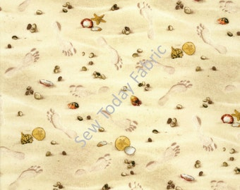 Footprints in the Sand - Elizabeth's Studio 290-SAND (sold by the 1/2 yard)