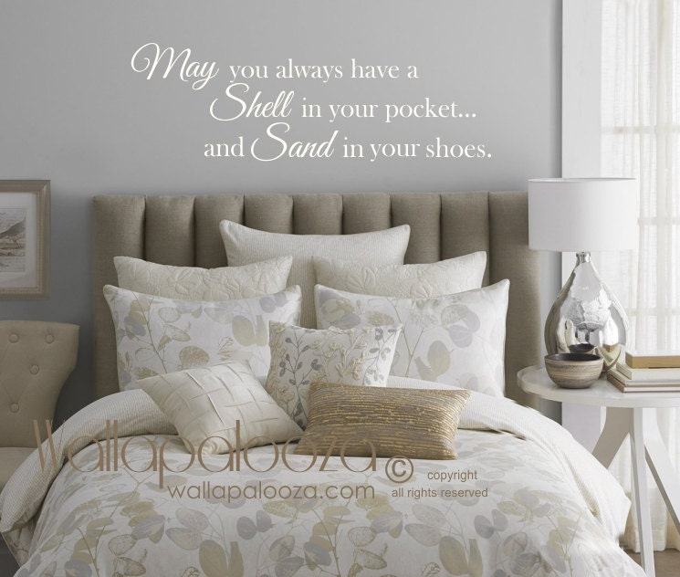 Beach Wall Decor May You Always Have A Shell In Your Pocket - Wall decals beach quotes