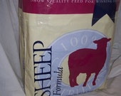 Upcycled Recycled Feed Pet Reusable Tote Shopping Bag - Sheep Dumor Feed Lamb