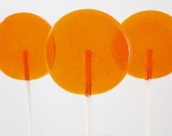 Orange Rose & Honey Gourmet Lollipops - Pick Your Size - Party Favors - Wedding Favors - Lollipop Favors - Luxe Lollies