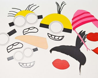 SALE 1/2 off  Despicable Me (Inspired) Photo Props or Centerpiece  DIY