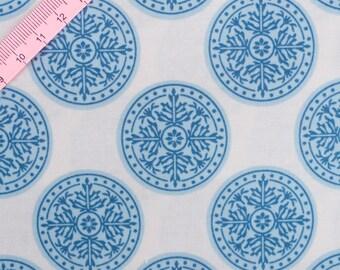 Tilda Inca Blue Fabric / Gardenparty Collection - Large Fat Quarter