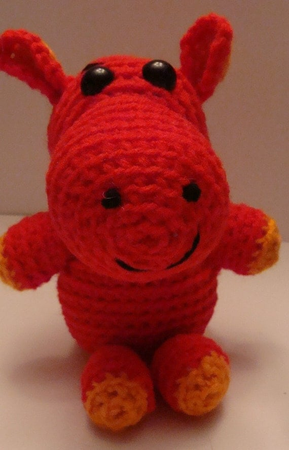 Amigurumi Yarn : Amigurumi Hippo / Yarn Hippo / Stuffed Toy by ...
