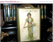 Antique Book -Hiawatha - Longfellow - Victorian Covers