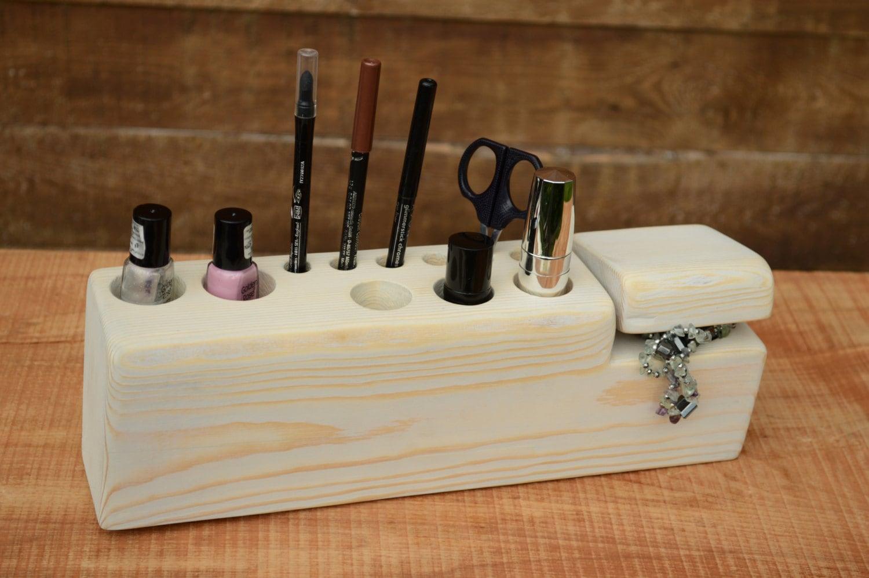 Valentines Day Gift Shabby Chic Wooden makeup organizer