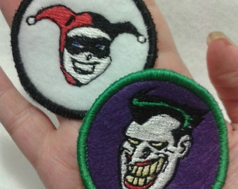 Joker and Harley Quinn Patches