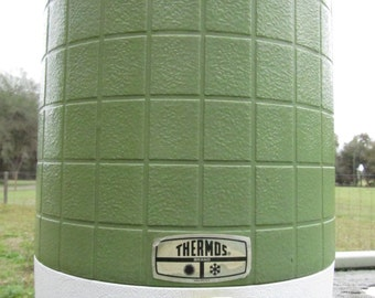 Vintage Green Thermos Drink Dispenser, Vintage Thermos