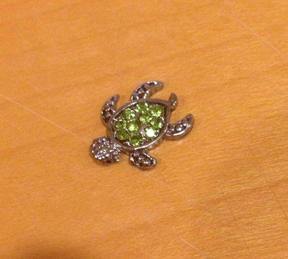 floating charm turtle by peanutpatchmonogram on etsy