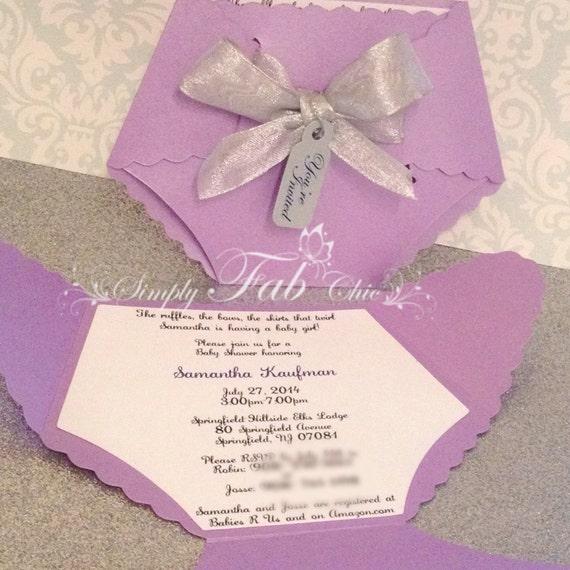 Baby Shower couche Invitation / Invitation cartes / couches