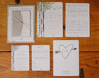 Printable Wedding Invitation - Woodland Suite