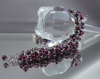 Twilight Shaggy Loops Chainmaille Bracelet