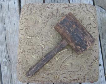 Old Primitive Wood Mallet