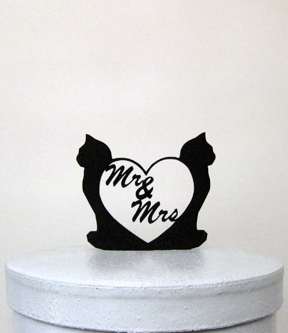 black cats wedding cake toppers wedding cake topper and cat with mr and mrs 11858