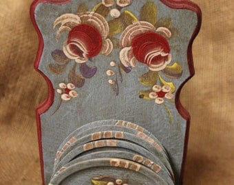 Hand Painted Tiny Plate Holder