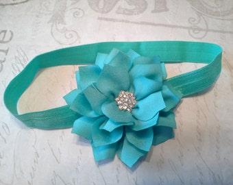 Baby headbands, headbands, foe headband, girls headband, bow headband, blue headband, flower headband, wedding headband, formal headband