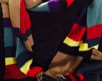 16' Dr. Who Tom Baker multi-color scarf Doctor