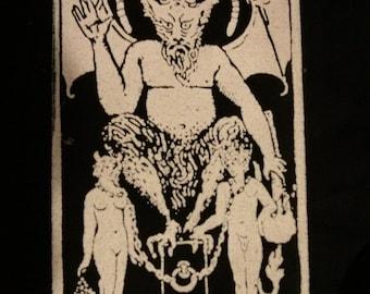The Devil Tarot Card Patch | Satan | Beelzebub | Evil | 4 x 6