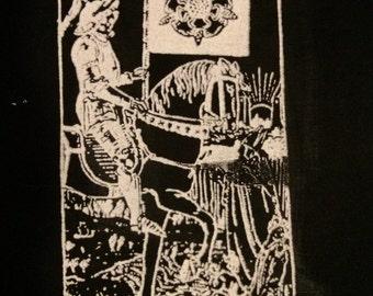 Death Tarot Card Patch   Major Arcana   Skeleton   Thirteen   4 x 5