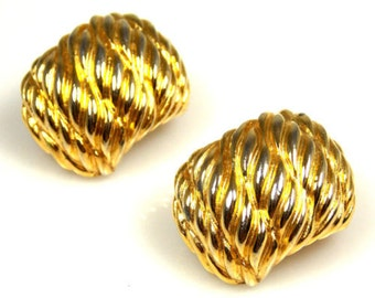 Paolo Gucci Textured Curved Earrings 1960s