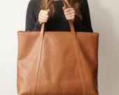 Light brown carryall tote, weekender leather tote for everyday or special escapades, honey tote