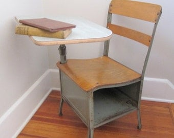 "Vintage School Desk Metal - Adult Sized 17"", Large Quantity 24 desks"