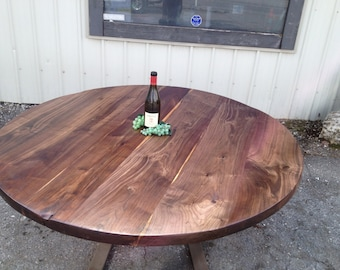 Circle of Beauty- Black Walnut Round Table Tops