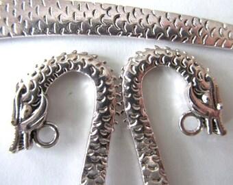 5 pieces (one set) Tibetan Silver DRAGON BOOKMARKS