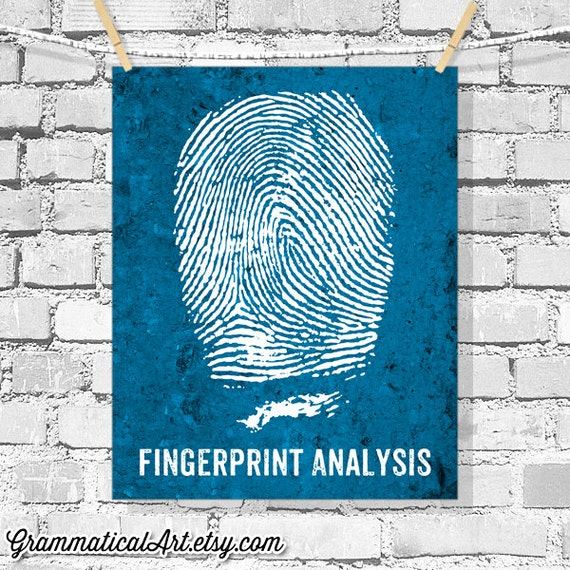 Forensic Science Poster Fingerprint Analysis By Grammaticalart
