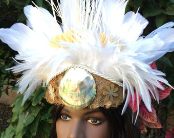 White feather crown