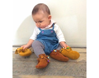 Bubba Kawa Toddler Inca Boot Moccasins.