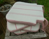 Set of 4 cushions with ties in Susie Watson fabric, made to order - for Laura