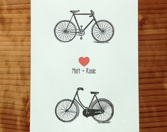 Bicycle Heart Duo Print