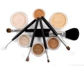 Neutral Mineral Makeup Kit | 14pc SUPER NATURAL | Makeup Set & Brushes