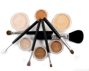 Neutral Mineral Makeup Kit | 14pc SUPER NATURAL | Makeup Set & Brushes
