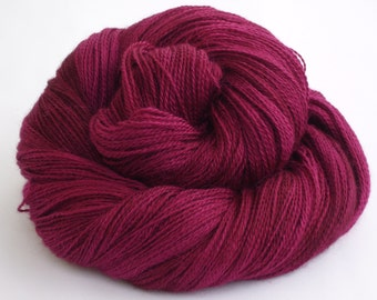 Heavy lace weight Baby Alpaca, silk and cashmere- raspberry plum