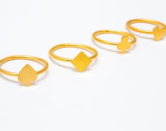 Tiny Card Rings Collection
