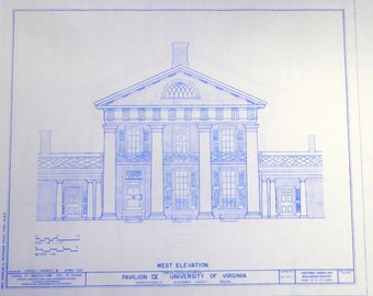 University of Virginia Pavilion IV Blueprint