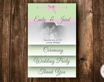 Custom Layered Wedding Program Printable File