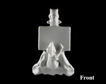 Vintage Porcelain Figural Artist Table Name and/or Menu Vase Plaque