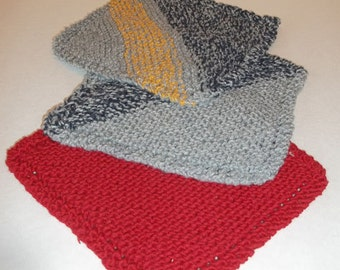 Recycled Cotton Hand Knit Washcloths